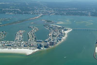 Bayfront real estate on the south end of Clearwater Beach